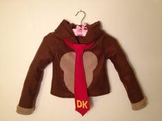 Nintendo Donkey Kong inspired fleece hoodie shirt (adult sizes) on Etsy, $110.00