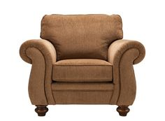 For fans of comfort and style versatility, this Kasson chenille chair flourishes on all fronts. The plump cushions and pillow arms are fit for hours of relaxation and quality time. Plus, decorating with its array of classic design elements, from pleated arms that hint at a traditional roll to turned bun feet, is an absolute breeze!