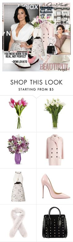 """""""You see me standing, but I'm dying on the floor..."""" by thisiswhoireallyam7 ❤ liked on Polyvore featuring Balmain, NDI, Joseph, Giambattista Valli, Christian Louboutin, Loro Piana, Alexander McQueen, Dolce&Gabbana, floralprint and pastel"""