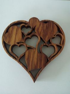 Heart of hearts uploaded in Other scrollwork: Heart of hearts cut from reclaimed rimu. 10cm x 10cm or 4 x 4 inches approx. Cut with a FDSR No5 and FD...