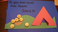 Manna craft. **Use tan paper for the ground, rather than green, since they're supposed to be in the desert!**