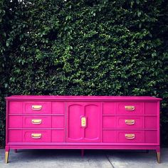 PORTFOLIO Hot Pink Dressers by theHouseofWillow on Etsy
