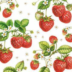 'Strawberry Plant' Paper Napkins