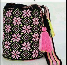 모칠라백 Crotchet Bags, Knitted Bags, Tapestry Crochet Patterns, Crochet Patterns Amigurumi, Crochet Handbags, Crochet Purses, Mochila Crochet, Tapestry Bag, Boho Bags