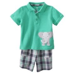 JUST ONE YOU Made by Carters Infant Toddler Boys 2 Piece Set - GreenGray 9.99 @ target