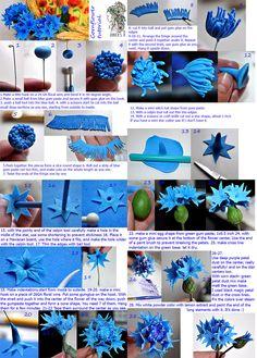 gum paste cornflower tutorial