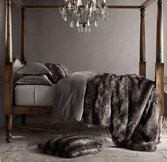 Warm & Fuzzy bedroom RH