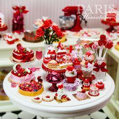 Miniature food - Valentines miniatures by Paris Miniatures