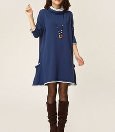 Hey, I found this really awesome Etsy listing at http://www.etsy.com/listing/159316223/blue-sweater-dress-knitwear-wool-dress