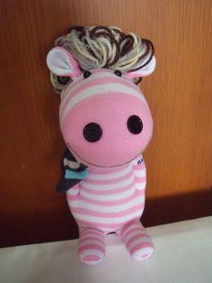 Handmade Horse Stuffed Sock Doll