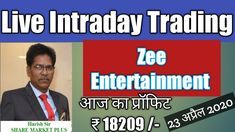 ZEE ENTERTAINMENT I LIVE INTRA DAY TRADING I PROFIT Rs. 18209/-