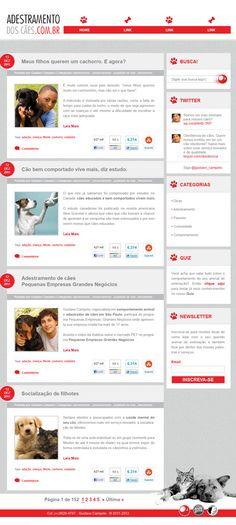 """Layout do Blog """"ADESTRADOR DOS CÃES"""" de Gustavo Campelo"""