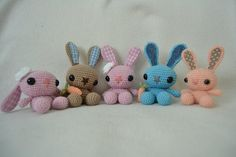 A Pretty Piece: Amigurumi Bunny (あみぐるみ. Crochet Animals, Crochet Toys, Crochet Baby, Knit Crochet, Knitted Dolls, Handmade Toys, Handicraft, Hand Knitting, Needlework