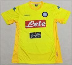 www.ibaratoes.es Camisetas de fútbol Serie A  camiseta de futbol Napoli 1718 amarillo SAT14