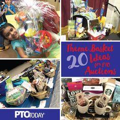20 ideas for theme baskets for ptos and ptas - pto today Fundraiser Baskets, Teacher Gift Baskets, Raffle Baskets, Teacher Presents, Theme Baskets, Themed Gift Baskets, Gift Basket Themes, Auction Projects, Auction Ideas