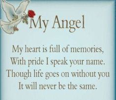 The day my Angel got her wings.My Angel. my heart if full of memories.with pride I speak your name. Though life goes on without you. It will NEVER be the same Viola Lopez.love you Grams and miss you terribly. The Words, Missing You So Much, Love You, My Love, Missing Daddy, Pomes, Miss You Mom, My Champion, Angels In Heaven