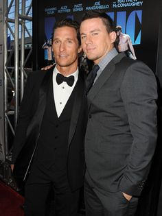 "Matthew McConaughey and Channing Tatum at the ""Magic Mike"" premiere"