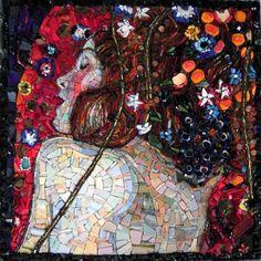 Klimt: mosaic made by Emilie Baudrais