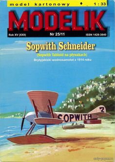 Sopwith Schneider (Modelik 25/2011), 1:33 paper model, maybe good for RC 1:16 conversion.