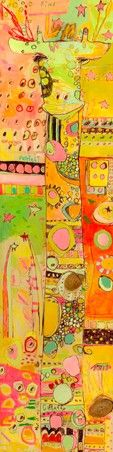 """""""Sizzle Giraffe"""" kids wall art by Jennifer Mercede for Oopsy Daisy, Fine Art For Kids $139"""