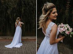 Como escolher a grinalda ideal para seu casamento? Girls Dresses, Flower Girl Dresses, Boho, White Dress, Wedding Dresses, Fashion, Dress Wind, Classic Style, Stylish Hairstyles