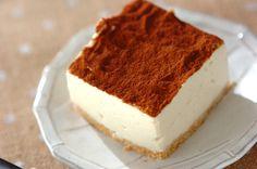 豆腐を使ったティラミス風スイーツ。甘い物を控えている人でもこれならたっぷり食べられます!