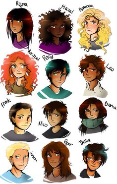 Demigods. They're all look like I imagined except Reyna