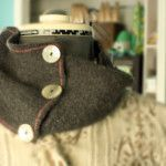 How-to: Infinity Scarf from a Shrunken Sweater
