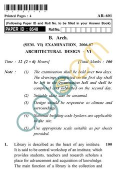 Uptu B Arch Question Papers Raza Site Analysis Pinterest