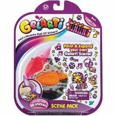 Gelarti Scene Pack - Funky Fun / Rock - 20 Stickers by Gelarti. $23.99. The Gelarti Scene Pack - Funky Fun/Rock is all you need to start your Gelarti collection! Gelarti is so simple to use! Place your Gelarti sticker sheet onto a flat surface and gently squeeze the Gelarti paint pen to add color to your sticker. Gelarti the stickers with a unique twist! Decorate your world with Gelarti! Create, decorate and accessorize your own stickers, then peel and place the r... All Toys, Toys R Us, Kids Store, Learning Games, Paint Pens, Arts And Crafts, Scene, Rock, Kid Stuff