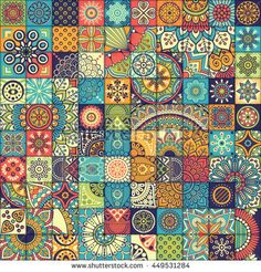Find Seamless Pattern Vintage Decorative Elements Hand stock images in HD and millions of other royalty-free stock photos, illustrations and vectors in the Shutterstock collection. Thousands of new, high-quality pictures added every day. Indian Patterns, Vintage Patterns, Tile Art, Mosaic Tiles, Tile Patterns, Textures Patterns, Magic Illusions, Batik Pattern, Graphic Wallpaper