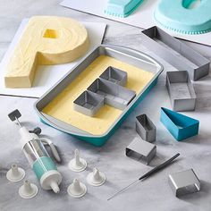 How To Make Letters, How To Make Cake, Decorating Tools, Cake Decorating, Whipped Cream Maker, Alphabet Cake, Pampered Chef Party, Cake Shapes, New Cake