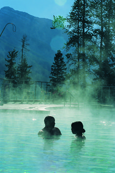 Relaxing mineral waters at the Banff Upper Hot Springs. #vacation #hotsprings     www.hotsprings.ca