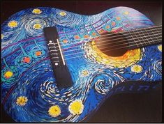 These acoustic guitar notes are great. Guitar Painting, Guitar Art, Acoustic Guitar Notes, Acoustic Guitars, Ukelele Painted, Bass Guitar Accessories, Ukulele Design, Ukulele Case, Notes Design