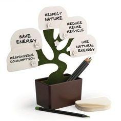 Amazon.com: Zuwit Desk Bonsai Memo Note Holder for Desktop Notes Plant Storage box includes 100 Sheets: Home & Kitchen