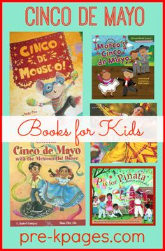 Ideas for celebrating Cinco de Mayo in your preschool, pre-k, or kindergarten classroom. A fiesta of fun! Kindergarten Reading, Preschool Kindergarten, Preschool Bulletin, Holiday Activities, Learning Activities, Elementary Spanish, Elementary Library, Hispanic Heritage Month, Preschool Books