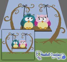 Owl Always Love You Mini C2C King Blanket Crochet Pattern - PDF Download