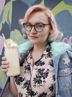Ice cream hair! Pastel pink to blue ombre in cute retro pincurls