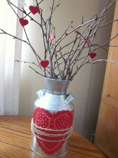 simple valentine's decor