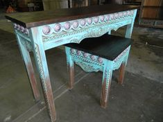 turquoise with conchos accent tables