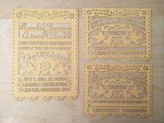 Laser cut Invitation - (100 invitations (5x7) including envelopes) Love Bird Papel Picado Inspired Wedding