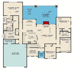 Find your dream french-country style house plan such as Plan which is a 2503 sq ft, 4 bed, 3 bath home with 2 garage stalls from Monster House Plans. Best House Plans, Dream House Plans, Small House Plans, House Floor Plans, 5 Bedroom House Plans, Bungalow Floor Plans, Beautiful House Plans, House Rooms, Beautiful Homes