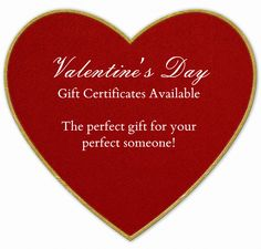 Valentines gift certificates Discount offer will start on 01/30/2015 Get $10.00 off your order! Offer good through 02/14/2015