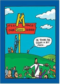 Radical Reformation Fan: Hilarious Christian Cartoons - so many funny cartoons! Bible Cartoon, Jesus Cartoon, Cartoon Jokes, Funny Cartoons, Funny Jokes, Hilarious, Daily Cartoons, Funny Laugh, Christian Comics