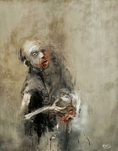 by Olivier de Sagazan Dark Drawings, Macabre Art, Sad Art, Horror Art, Contemporary Paintings, Painting Inspiration, Photo Art, Sculpture, Cool Art