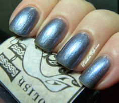 Hebridean Sprite Beauty Thunderbird Strike | Pointless Cafe Cosmetic Items, Manicures, Nails, Swatch, Nail Polish, Glitter, Yellow, Blue, Beauty Products