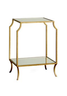 Gold and mirror side table.