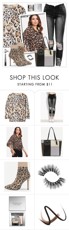 """""""Leopard Print Blouse"""" by stranjakivana ❤ liked on Polyvore featuring Equipment, Burberry and The Body Shop"""