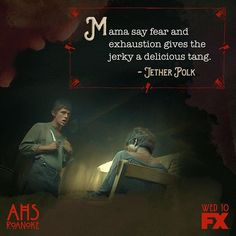 American Horror Story Roanoke // Don't spoil your appetite. Roanoke Nightmare, American Horror Story Series, Horror Show, Tv Show Quotes, Ahs, Coven, Good People, Tv Shows, The Incredibles