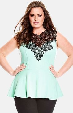 This is so cute City Chic 'Lace Love' Top (Plus Size)